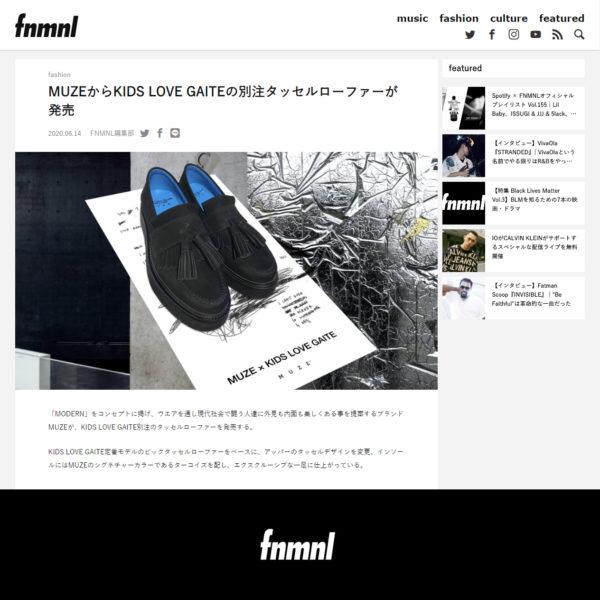 """FNMNL 掲載"" MUZE TURQUOISE LABEL 【MUZE×KIDSLOVEGAITE BIG TASSEL LOAFERS 】"