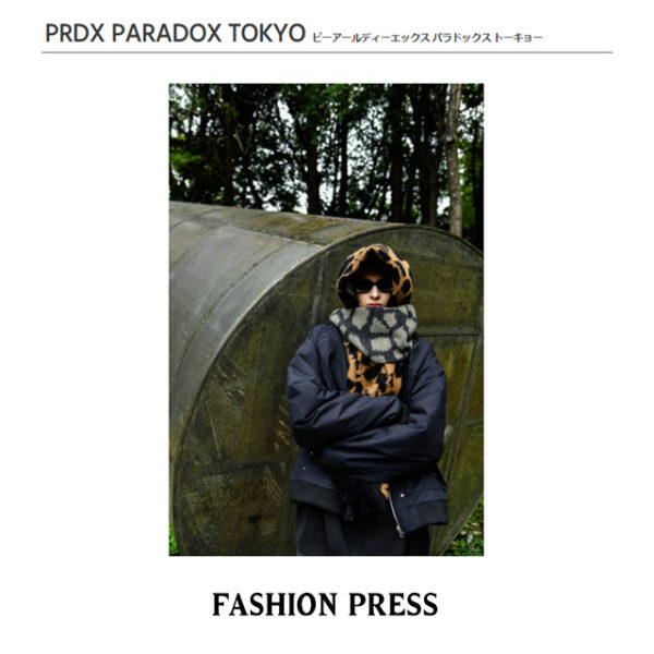"""""""FASHION PRESS"""" PRDX PARADOX TOKYO 2020-21秋冬コレクション LOOK掲載"""