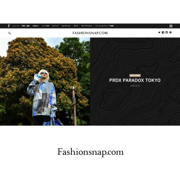 """FASHIONSNAP.COM [ファッションスナップ・ドットコム]"" PRDX PARADOX TOKYO 2020-21秋冬コレクション LOOK掲載"