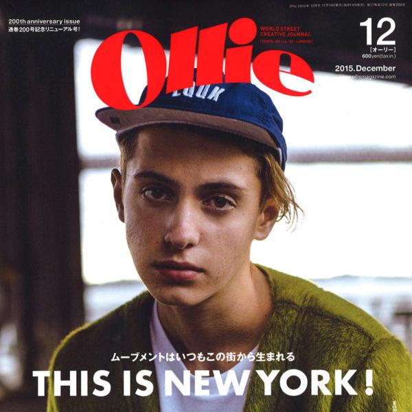 """雑誌【ollie】12月号:""""MUZE""""ライダースジャケットを掲載して頂きました"""