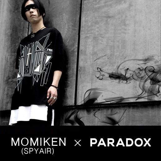 MOMIKEN (SPYAIR) と PARADOXによるコラボレーション企画でTシャツを製作致しました。