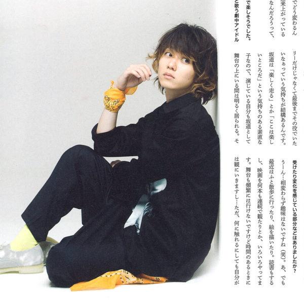 """""""omoshii mag""""にて小越勇輝様に""""MUZE""""のアイテムを着用していただきました。"""