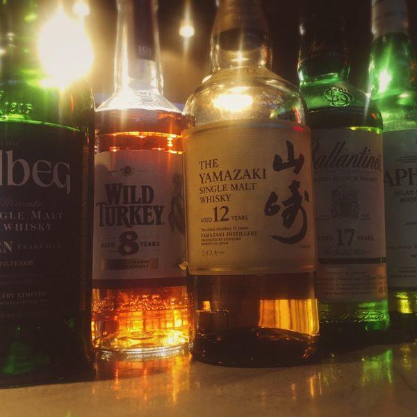 本日のオススメはウィスキー各種