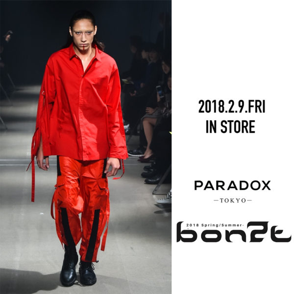 2.9.(FRI) IN STORE【PARADOX】18SS COLLECTION