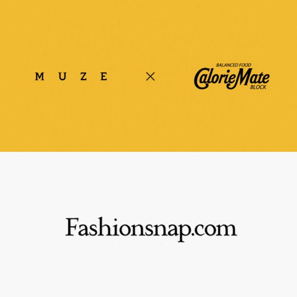 """""""Fashionsnap.com""""にて""""MUZE""""×""""カロリーメイト""""コラボショーについて掲載。"""