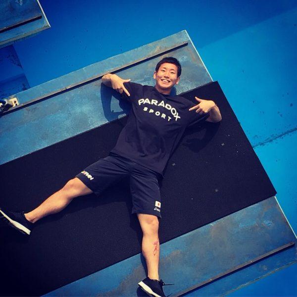 高飛び込み選手/荒田恭兵さんに PARADOX SPORTロゴTシャツを提供