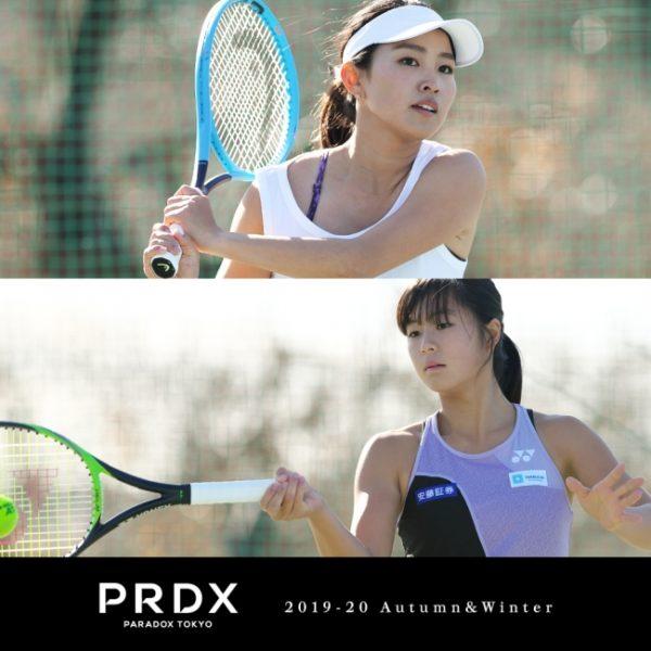 東京コレクション PRDX-PARADOX TOKYO-のランウェイショーにテニスプレイヤー宇野真彩選手・佐藤久真莉選手がモデル出演