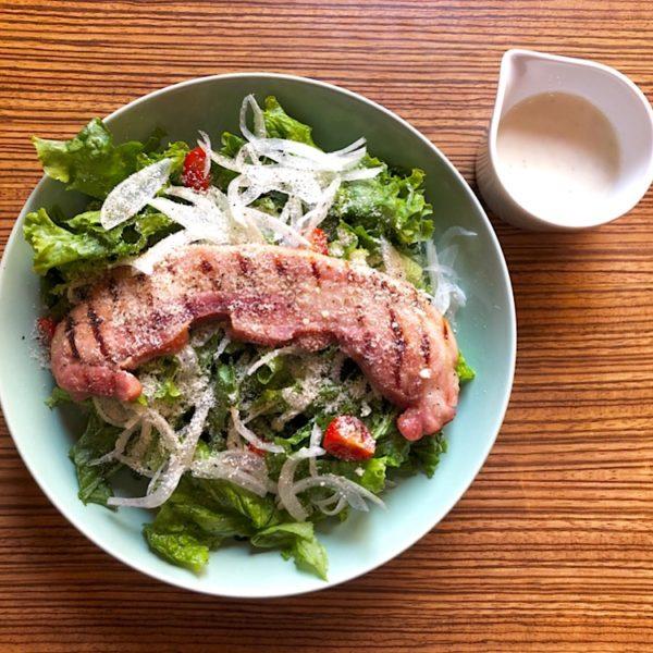 ☆厚切りベーコンのシーザーサラダ☆