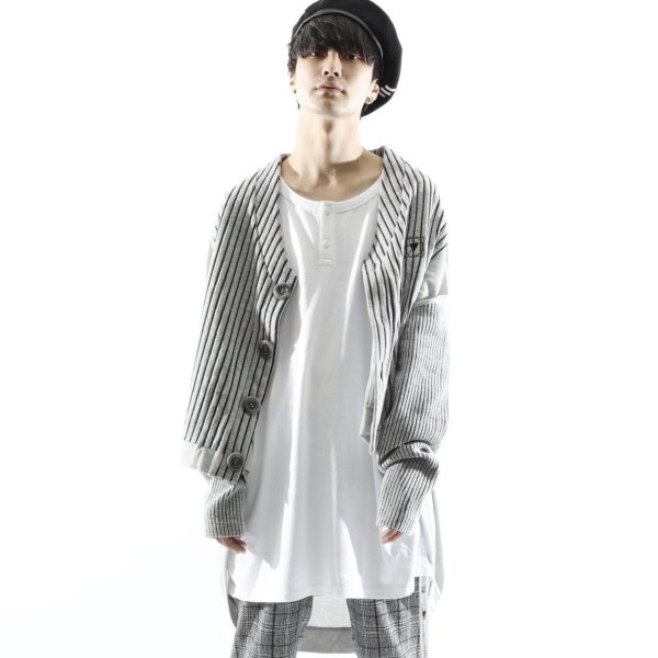 【NEW ARRIVAL】SILLENT FROM ME – COCOON -Switched Knit Cardigan-