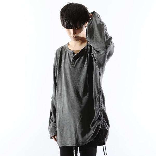 【NEW ARRIVAL】SILLENT FROM ME – CLOUD -Henley Neck Drawstring Cutsew-