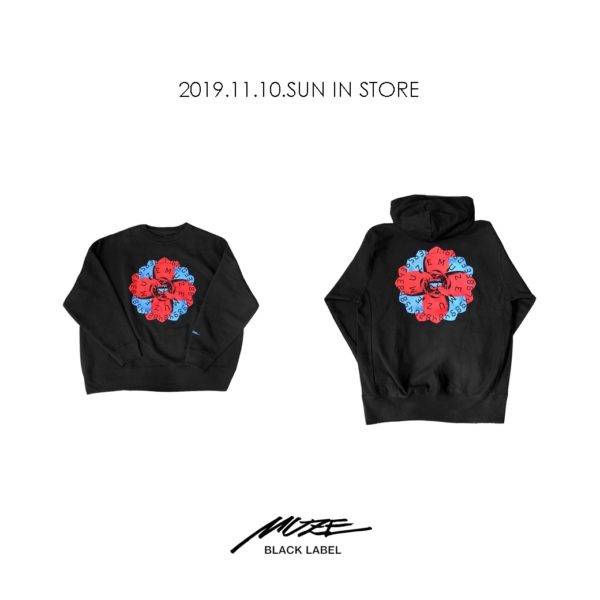"【NEW ARRIVAL】MUZE BLACK LABEL ""FLOWER LOGO"""