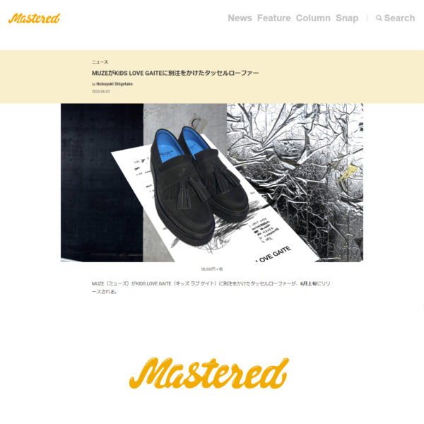 """Mastered 掲載"" MUZE TURQUOISE LABEL 【MUZE×KIDSLOVEGAITE  BIG TASSEL LOAFERS 】"