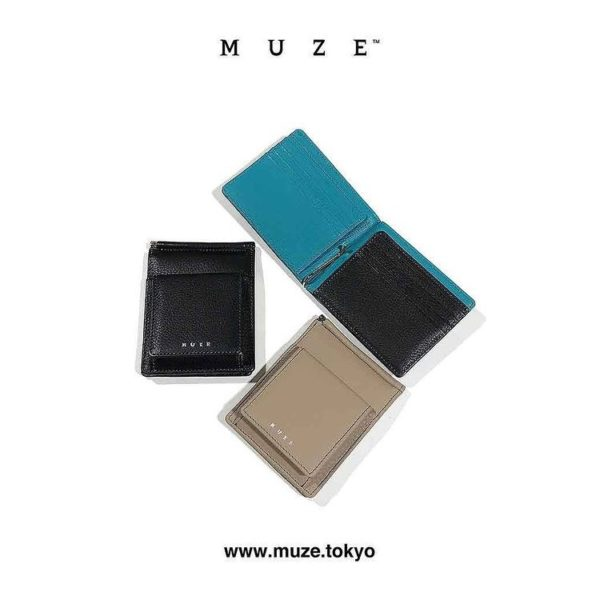 【NEW ARRIVAL】MUZE TURQUOISE LABEL – MUZE LEATHER BILL CLIP WALLET