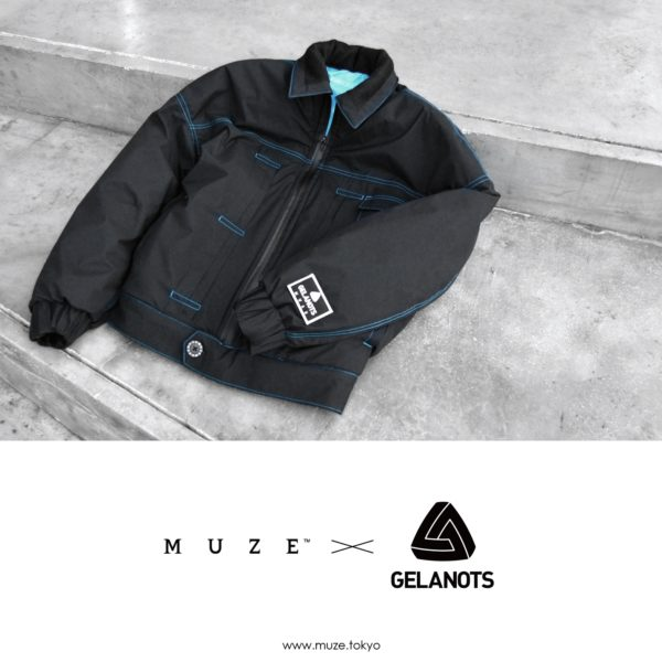 【NEW ARRIVAL】 MUZE TURQUOISE LABEL – G-LINE ZIP PADDING JACKET